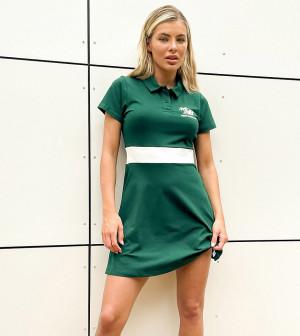Зеленое теннисное платье с логотипом пальмы New Balance – эксклюзивно для ASOS-Зеленый цвет